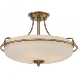 Weathered Brass 4lt Semi-Flush Mount - 4 x 100W E27