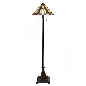 Valiant Bronze Floor Lamp - 2 x 60W E27