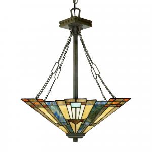 Valiant Bronze Pendant - 3 x 100W E27
