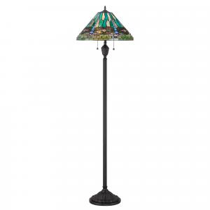 Vintage Bronze Floor Lamp - 2 x 100W E27