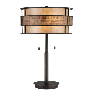 Renaissance Copper Table Lamp - 2 x 60W E27