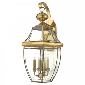 Polished Brass Extra Large Wall Lantern - 4 x 60W E14