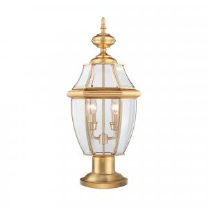 Polished Brass Pedestal - 2 x 60W E14