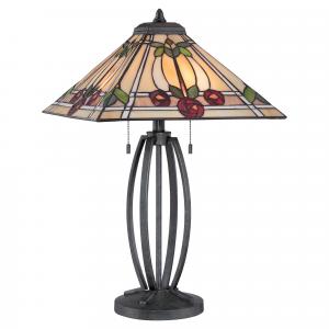 Vintage Black Table Lamp - 2 x 60W E27