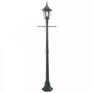 Black Single Post Lantern - 1 x 100W E27