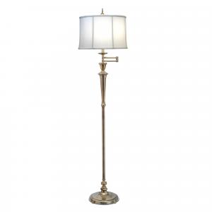 Burnished Brass Swing Arm Floor Lamp - 1 x 60W E27