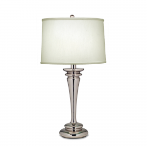 Polished Nickel Table Lamp - 1 x 60W E27