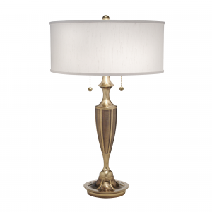 Burnished Brass Table Lamp - 2 x 60W E27