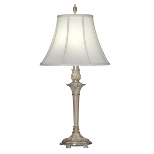 Milano Silver Table Lamp - 1 x 60W E27