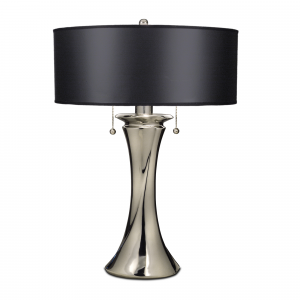 Polished Nickel Table Lamp - 2 x 60W E27