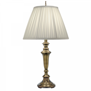 Burnished Brass Table Lamp - 1 x 60W E27