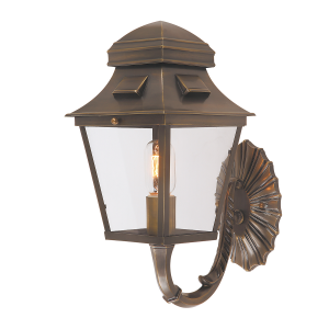 Brass Wall Lantern - 1 x 60W E27