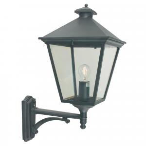Black Up Wall Lantern - 1 x 100W E27