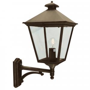 Black/Gold Up Wall Lantern - 1 x 100W E27