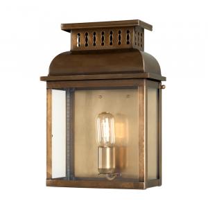 Solid Brass Wall Lantern Brass - 1 x 100W E27