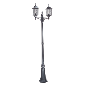 Black Silver Lamp Post - 2 x 100W E27
