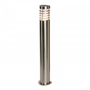 Brushed Stainless Steel & Frosted Pc Bollard IP44 9.2W
