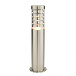 Brushed Stainless Steel & Clear Pc Post IP44 9.2W
