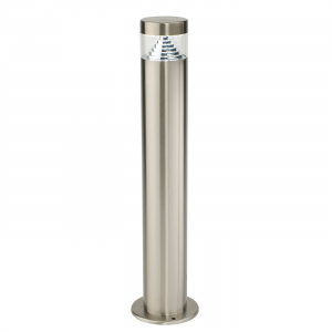 Brushed Stainless Steel & Clear Pc Post IP44 3.5W