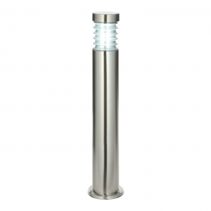 Marine Grade Brushed Stainless Steel & Clear Pc Bollard IP44 23W