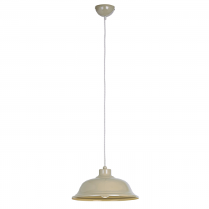 Country Cream Paint & Cream Braided Flex 1lt Pendant 60W