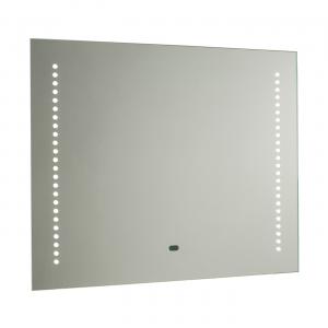 Mirrored Glass & Matt Silver Effect Paint Shaver Mirror IP44 1.5W & 5.5W