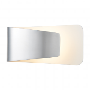 Polished Aluminium & Matt White Paint 1lt Wall 7.5W