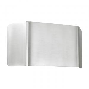 Polished Aluminium & Matt White Paint 1lt Wall 9W
