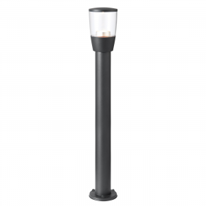 Textured Dark Matt Anthracite Paint & Clear Pc Bollard IP44 3.5W