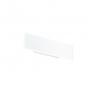Textured Matt White Paint & Frosted Acrylic 285mm Wall 5.5W