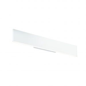 Textured Matt White Paint & Frosted Acrylic 485mm Wall 11W