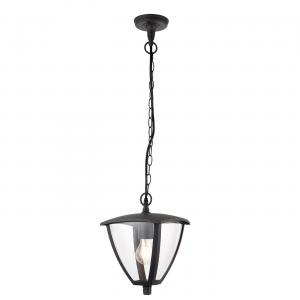 Textured Grey Paint & Clear Pc 1lt Pendant IP44 40W