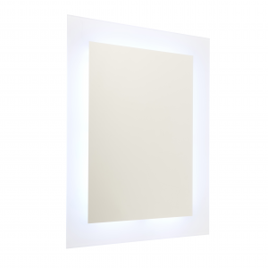 Mirrored Glass & Gloss White RGBW Mirror IP44 14W