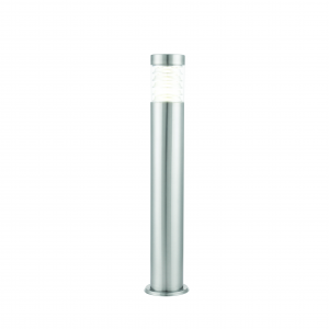 Marine Grade Brushed Stainless Steel & Clear Pc Bollard IP44 10W