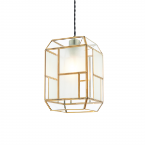 Solid Brass With Clear & Frosted Glass Non Electric 40W