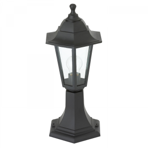 Black Polypropylene & Clear Glass Post IP44 60W