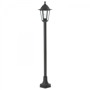 Black Polypropylene & Clear Glass Lamp Post IP44 60W
