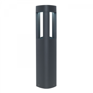 Textured Dark Grey Paint & Frosted Acrylic Post IP54 9W