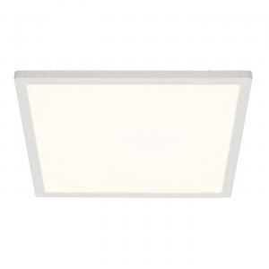 Gloss White & Opal Ps Plastic 250mm Square Flush 10W