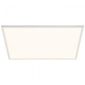 Gloss White & Opal Ps Plastic 450mm Square Flush 30W
