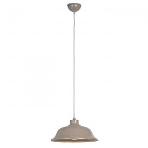 Slate Grey With Grey & White Herringbone Braided Flex 1lt Pendant 60W