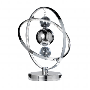 Chrome Effect Plate With Clear & Chrome Glass Balls Table 8W