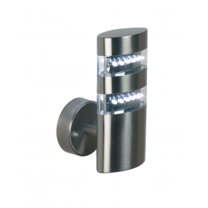 Polished Stainless Steel & Clear Pc 1lt Wall IP44 1.5W
