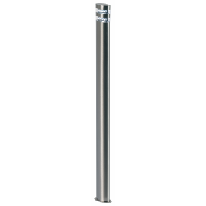 Polished Stainless Steel & Clear Pc Bollard IP44 1.5W