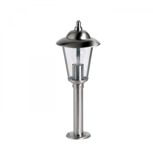 Polished Stainless Steel & Clear Pc Post IP44 60W