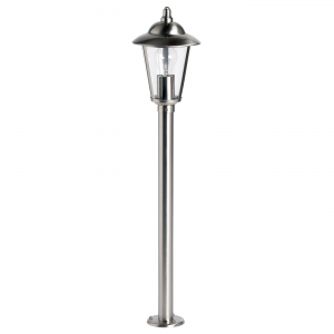 Polished Stainless Steel & Clear Pc Bollard IP44 60W