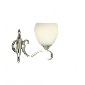 Wall Light - Polished nickel plate & matt opal glass