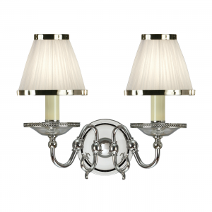 Wall Light - Polished nickel plate & clear crystal (k9) glass detail