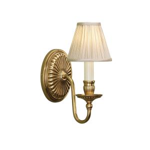 Wall Light - Solid mellow brass & beige organza effect fabric