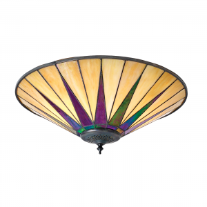 Flush Light - Tiffany style glass